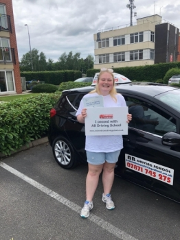 Well done Amber for passing in Sale on the 18/6/19