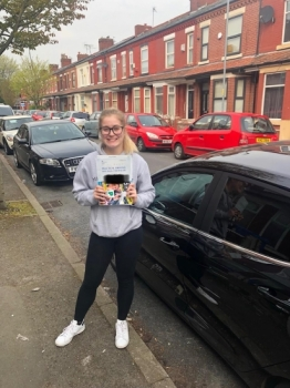 Well done to Amber Simm for passing her practical test at Sale on 16/4/19 with only one fault.