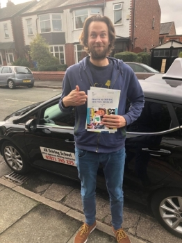 Congratulations to Carl Miles for passing his practical test in Cheetham Hill on 17/10/18.  Well done.