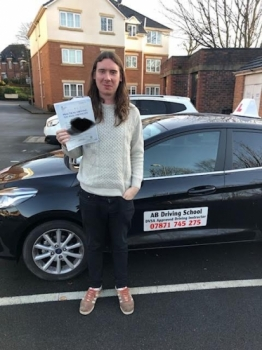 Congratulations goes to Chad for passing his practical test at Cheetham Hill on the 17/12/18