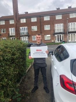 Well done Chris for passing first time at Bolton with just 1 fault.