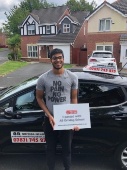 Congratulations go to Denzil for passing his practical test first time at Sale on 17/7/19.