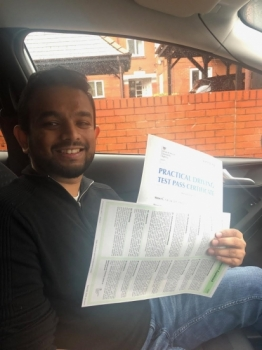 Well done to Kasun for passing his test on the 4/10/19 at Sale test centre.  Good first time pass.