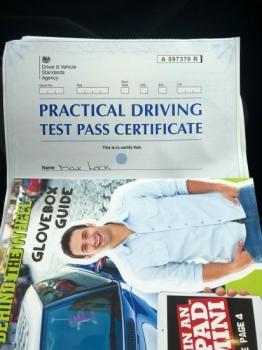 Congratulations to Motti Lock for passing his practical test at Cheetham Hill.  Well done and stay safe.