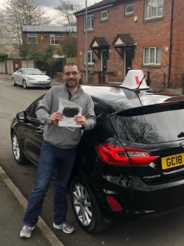 Well done to Richard for passing his practical test on 5th April at Cheetham Hill with just 2 faults.