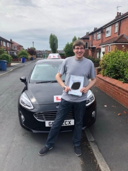 Congratulations to Sam Barber for passing his practical test in Sale on 7/5/19.  Enjoy your holiday.