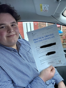 Well done to Sam for passing first time at Cheetham Hill on 22/1/20...